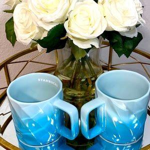 Starbucks Spring 2021 Blue Ombré Ceramic Mug 💙